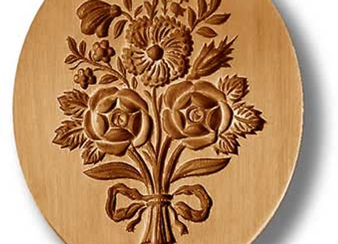 Bouquet of Flowers springerle cookie mold by Anise Paradise 2295