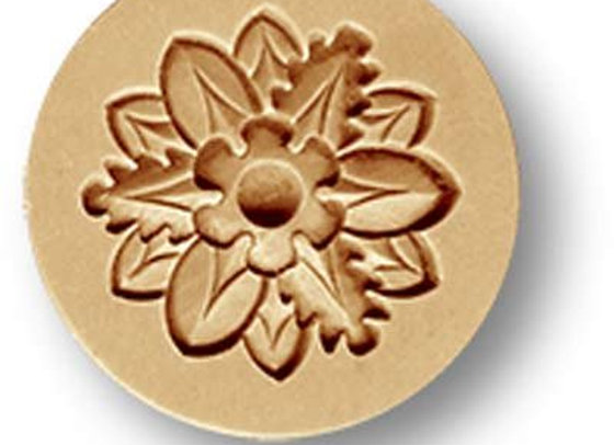 AP 1696 Leaves Ornament springerle cookie mold by Anise Paradise