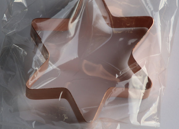 C5051 Six Pointed Flower Star copper cookie cutter