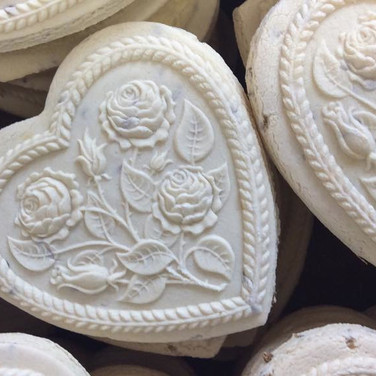 rose hearts spingerle cookie mold