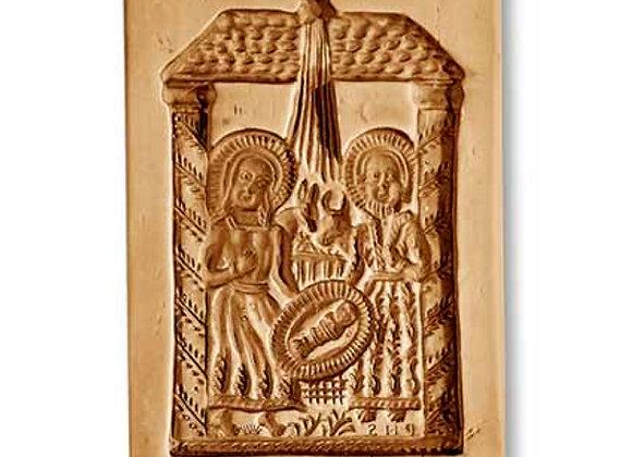 1139 Nativity Manger Scene circa 1700 springerle cookie mold by Anis-Paradies