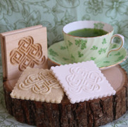 shamrock springerle cookie mold tea cup.
