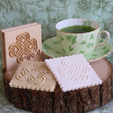 shamrock springerle cookie mold tea cup.