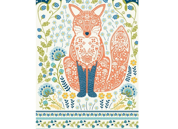 Woodland Fox Cotton Tea Towel by Ulster Weavers 022WFX