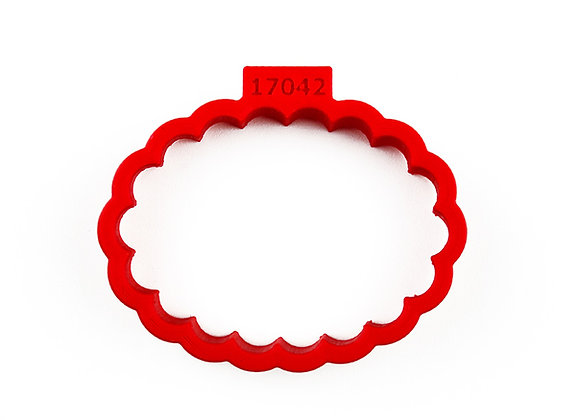 AP C - 17042 Fluted Oval cookie cutter by Gingerhaus