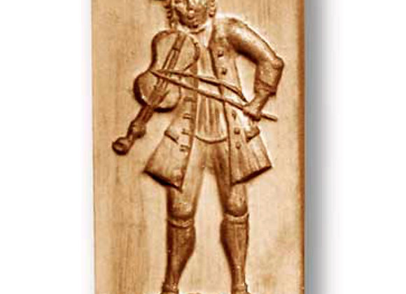 Fiddle Player Music springerle cookie mold by Anise Paradies 06850