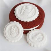 springerle cookie mold snowmen snowman 6