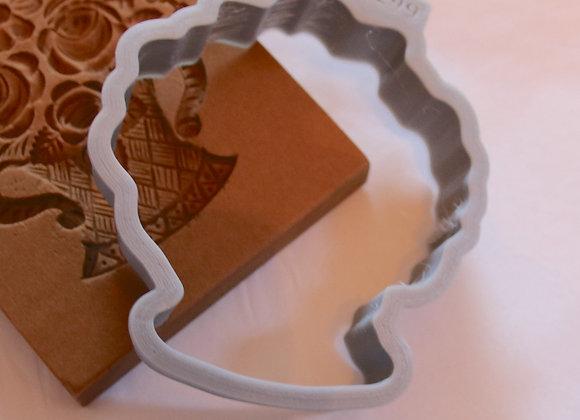C - 2299 Flower Basket cookie cutter by Gingerhaus