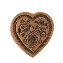 rose heart springerle cookie mold house