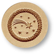 1698 springerle cookie mold shooting star