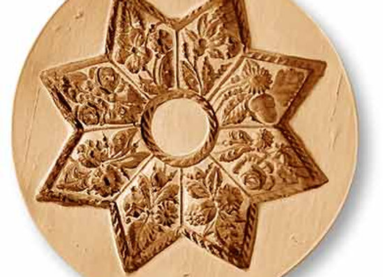 1039 Eight Pointed Flower Star springerle cookie mold by Anis-Paradies
