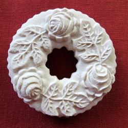 Springerle Mold SKU 2017 Wreath with 3 Roses