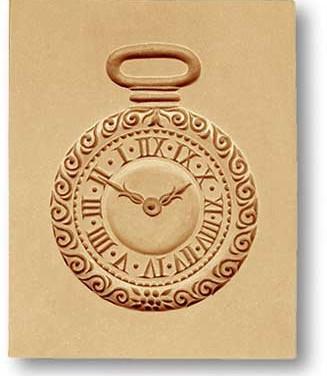 6620 pocket watch springerle cookie mold