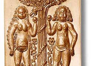 AP 1898 Adam and Eve circa 1680 springerle cookie mold by Anis-Paradies