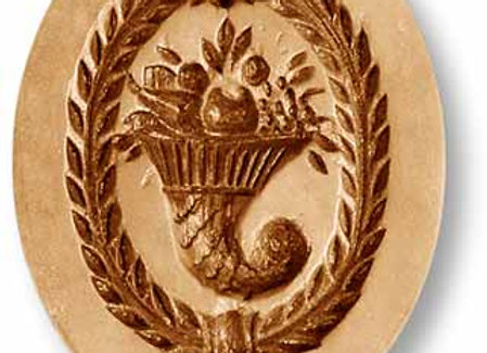 AP 2229 Cornucopia Wreath Border springerle cookie mold by Anis-Paradies