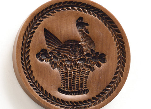 French Country Hen Springerle Cookie Mold by House on the Hill M1548