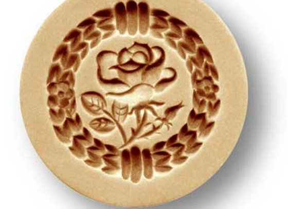 AP 2023 Petite Rose mini springerle cookie mold by Anise Paradise 2023
