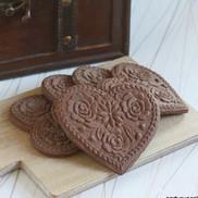lotus heart chocolate cookies springerle