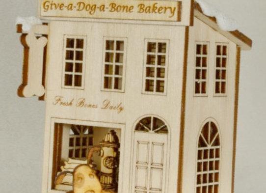 Bake Your Dog a Bone - Dog Bone Bakery - Wooden Ornament by Gingerhaus-TRC