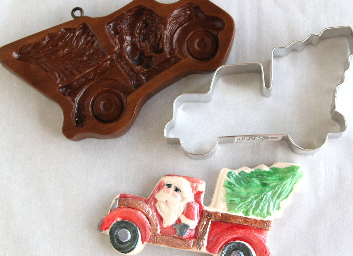Santa S Tree Farm Truck Springerle Cookie Mold By