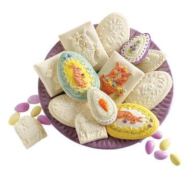 Easter springerle cookie molds