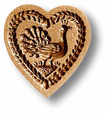 Heart with Rose Springerle Mold 5107