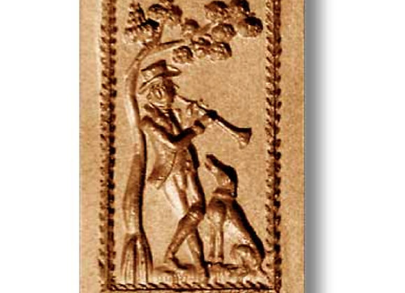 Flautist and Dog music springerle cookie mold by Anise Paradise 6834