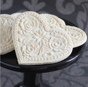 lotus heart springerle cookie mold hero