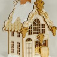vineyard ginger cottage wooden house ornament