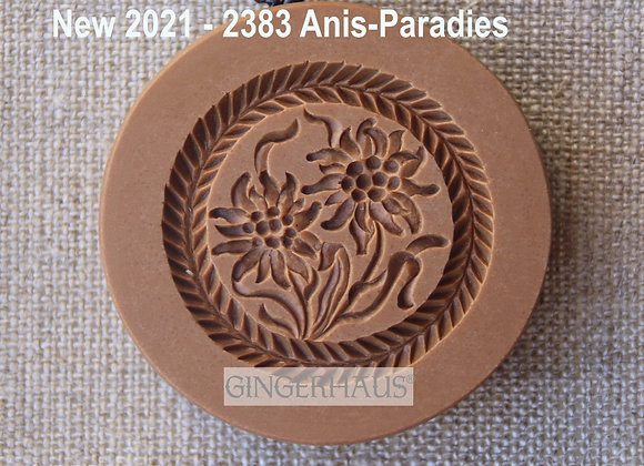 AP 2383 Two Edelweiss springerle cookie mold by Anis-Paradies