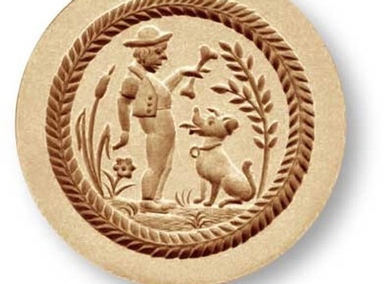 Man and His Dog springerle cookie mold by Anise Paradise