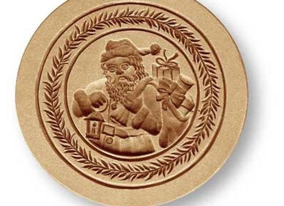 AP1235 Santa Claus round springerle cookie mold by Anis-Paradies