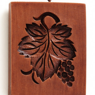 grape leaf springerle cookie mold