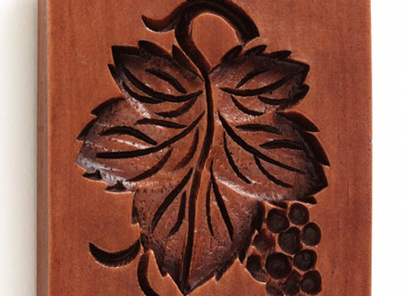 Grape Leaf Springerle Cookie Mold  by House on the Hill M5904