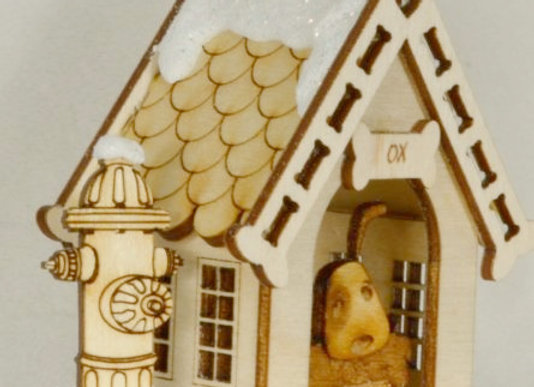 Bake Your Dog a Bone Dog House Wooden Ornament by Gingerhaus-TRC