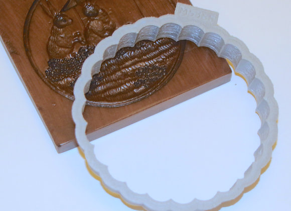C-M5386 Round Fluted Cookie Cutter by Gingerhaus CM5386 3.75in