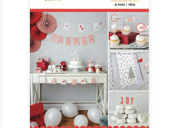 Merry and Bright Party Banner Accessories Kit