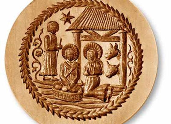 AP 1121 Nativity Manger Scene circa 1970 springerle cookie mold by Anis-Paradies