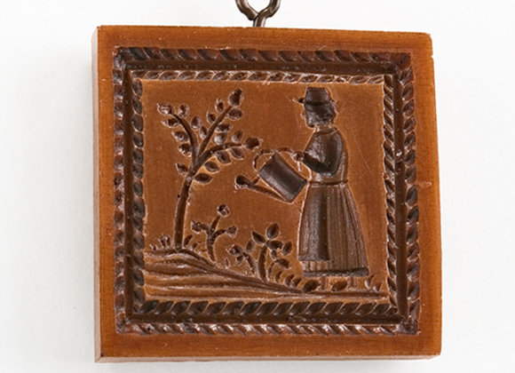 Woman Gardener Springerle Cookie Mold  by House on the Hill M5141