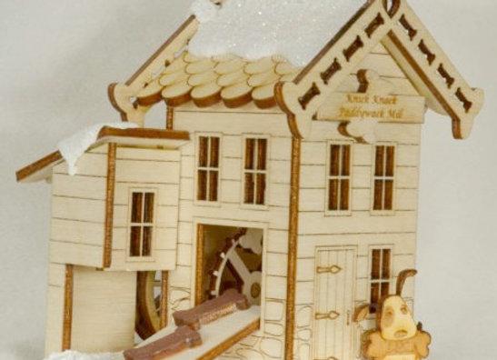 Bake Your Dog a Bone - Dog Bone Mill - Wooden Ornament by Gingerhaus-TRC