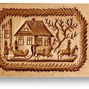 1001 springerle cookie mold sleigh