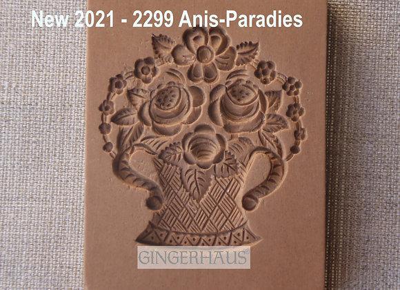 AP 2299 Rose Flower Basket springerle cookie mold by Anis-Paradie