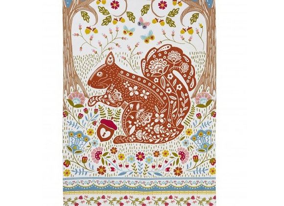 022WSQ Woodland Squirrel Cotton Tea Towel by Ulster Weavers 022WSQ