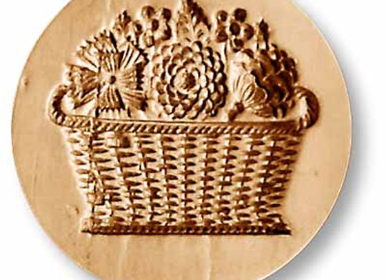 Flower Basket springerle cookie mold by Anis-Paradies 2303