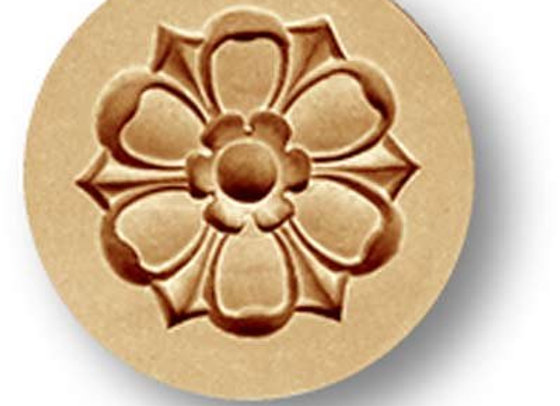 Flower Ornament springerle cookie mold by Anise Paradise