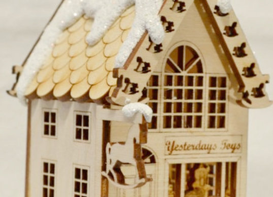 Toy Store Wooden Ornament by TRC Ginger Cottages