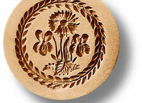 Cornflower with Violets springerle cookie mold by Anis-Paradies 2235