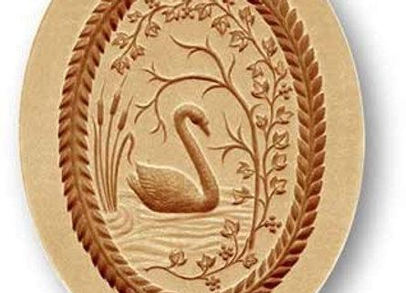Swan Oval springerle cookie mold by Änis-Paradies 3547