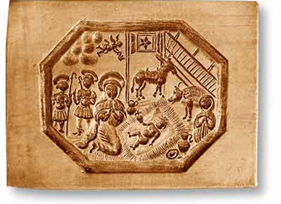 AP 1121 Nativity Manger Scene Octagon springerle cookie mold by Anis-Paradies 11