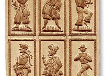 6 Pictures: Musicians ... springerle cookie mold by Anis-Paradies 08952